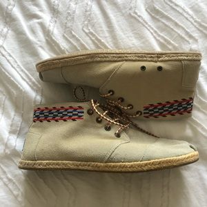 Toms Canvas Hightop Shoes